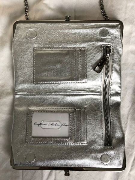 Hobo International Silver Double Clutch Crossbody