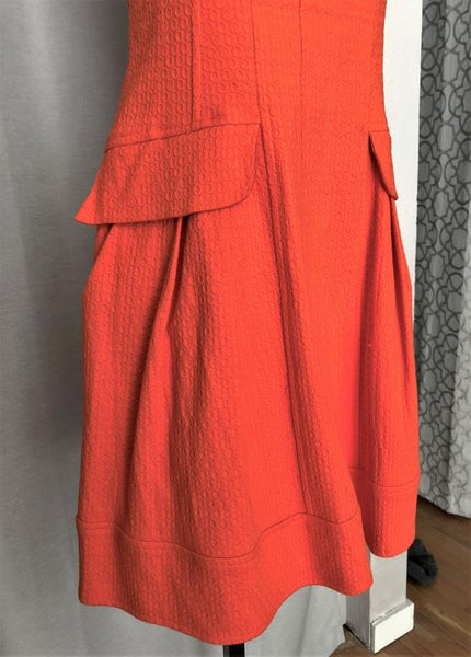 Nanette Lepore Size 8 Orange Sleeveless Dress
