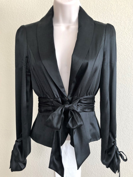 Sean Combs Size 4 Black Silk Blazer