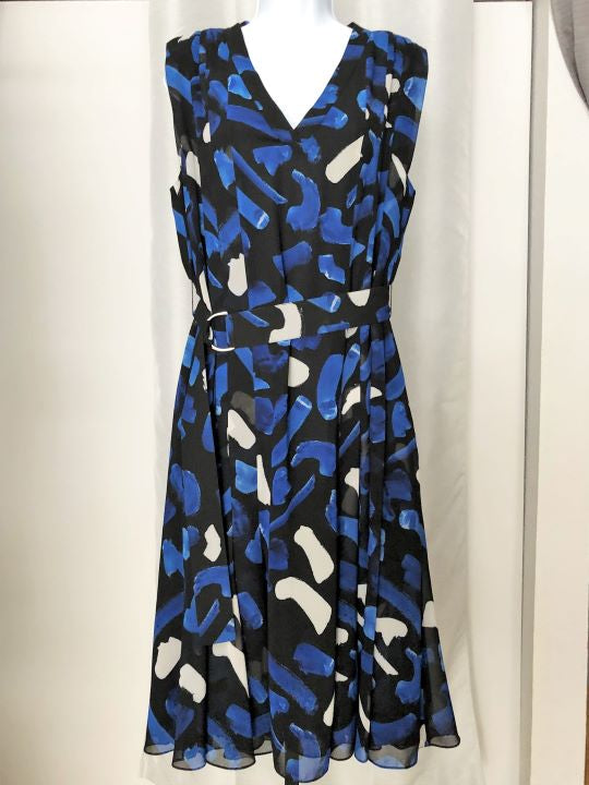 GREY Jason Wu Size 10 Blue and Black Dress