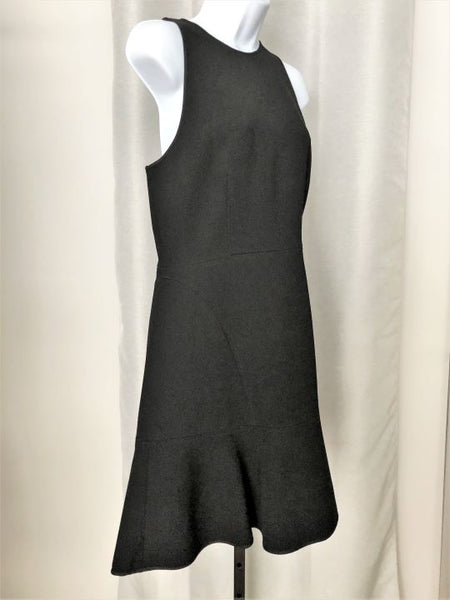Theory Size 10 Black Sleeveless Fit and Flare Dress - NEW