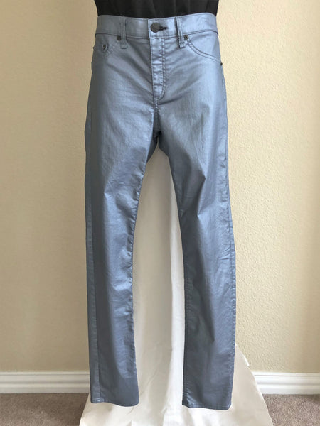 Rag & Bone Size 10 Metallic Blue Jeans