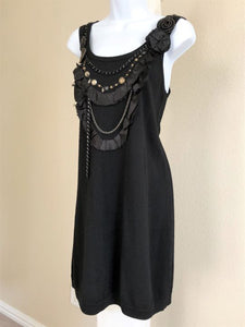 Nanette Lepore Size Medium Black Embellished Dress