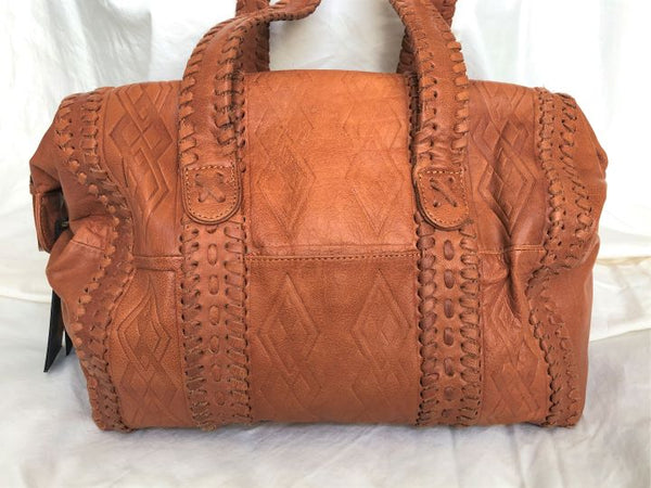 Day & Mood Cognac Leather Satchel - NEW