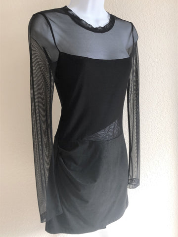 BCBGMaxazria Size XS Black Mesh Mini Dress - NEW