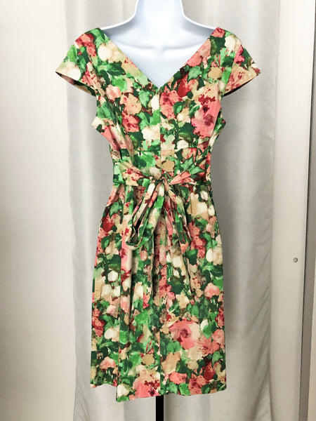 Talbot's 10P pink & green floral dress - NEW