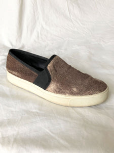 VINCE Size 9 Brown Calf Hair Slip-ons