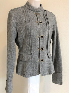 Blazer Size Small Gray Tweed with Back Lace-Up