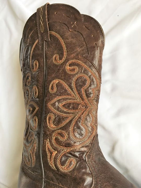 Ariat Size 7.5 Brown Leather Western Boots