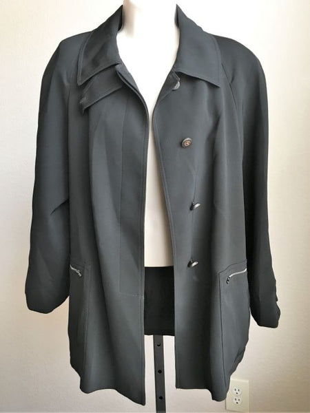 Armani Collezioni Size Medium Black Long Coat