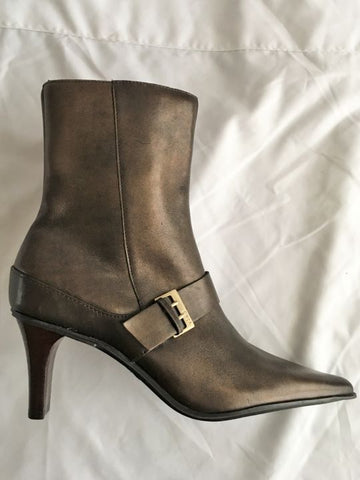 CIRCA Joan & David Size 7.5 Bronze Ankle Boots - NWT