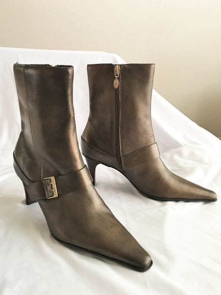 CIRCA Joan & David Size 7.5 Bronze Boots - NEW