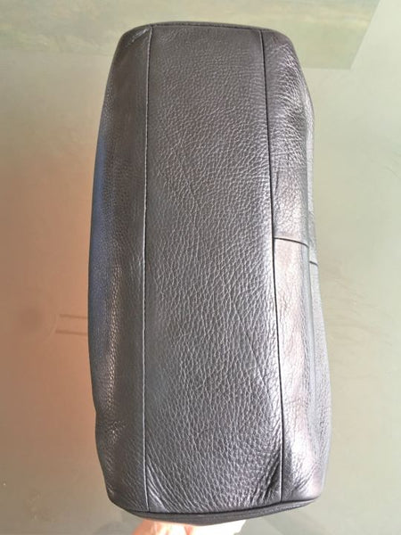 COACH Large Black Pebbled Leather Bag