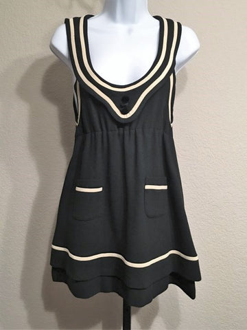 Catherine Holstein Size Small Black Sailor Dress