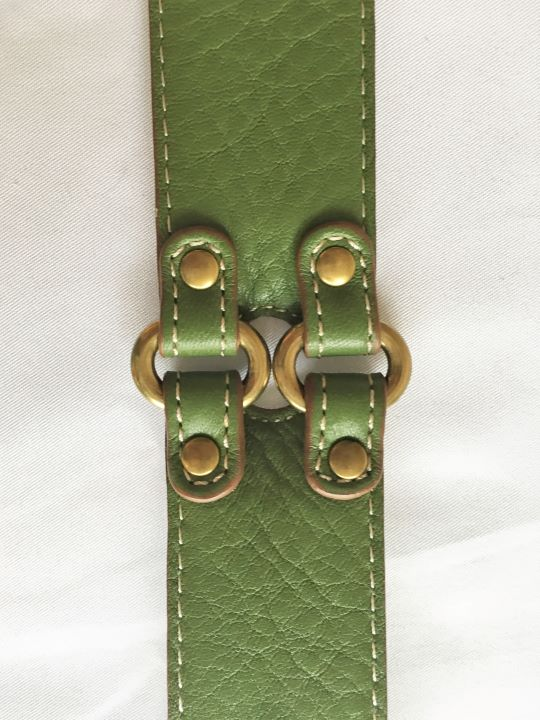 Belt - Cole Haan MEDIUM Green Leather