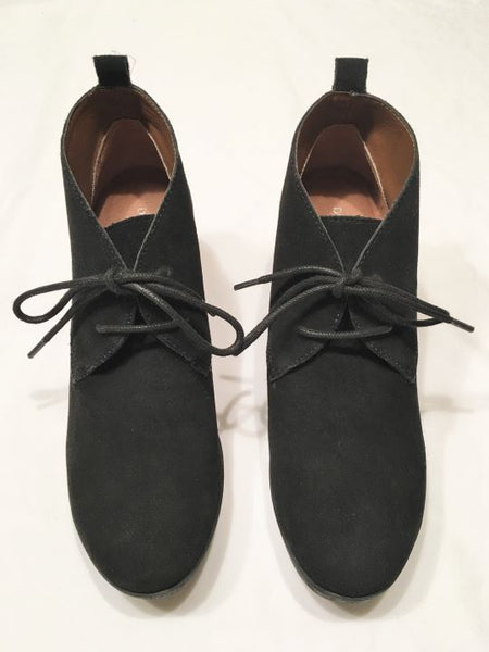 Donald Pliner Sz 6.5 Makko Black Suede Shoes - NEW