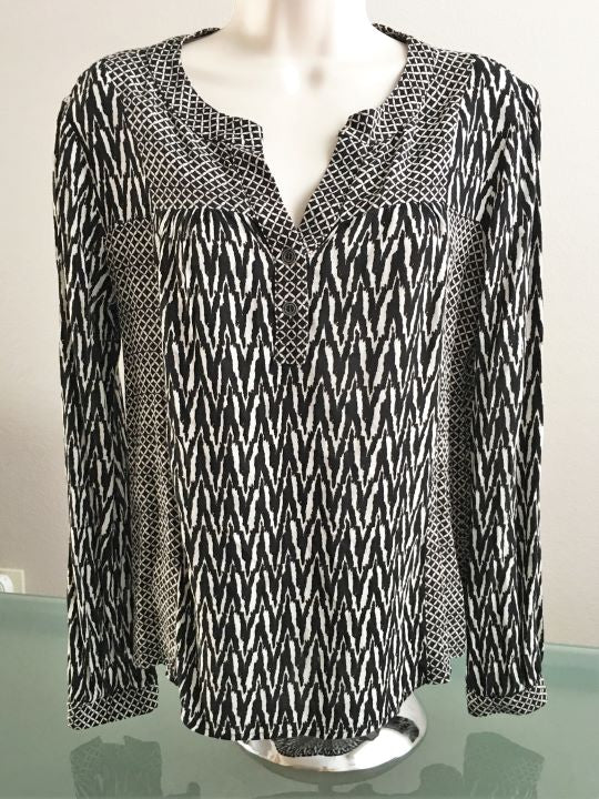 Ella Moss Anthropologie SMALL Black and White Blouse