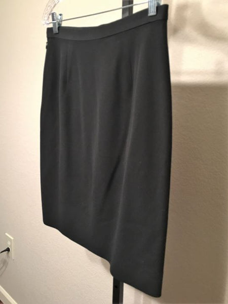 Giorgio Armani Size Medium Black Silk Pencil Skirt