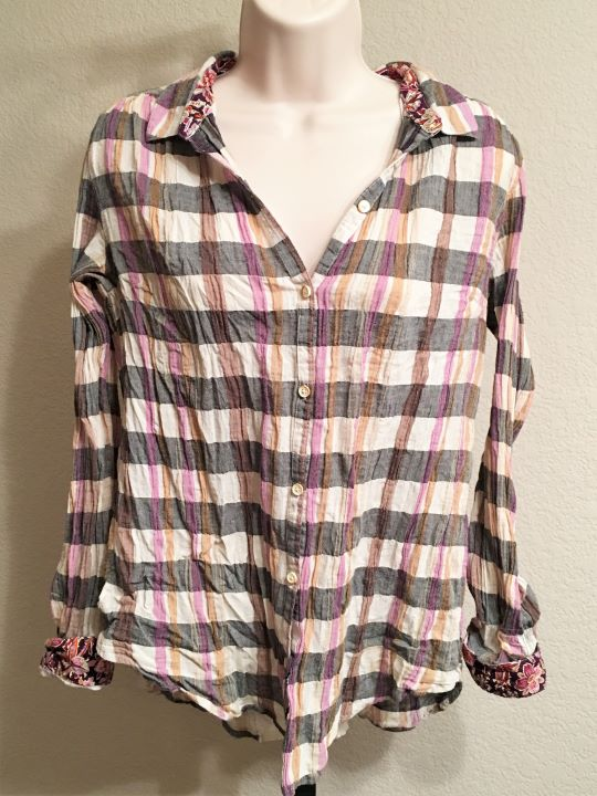 Isabella Sinclair Anthropologie Size Medium Plaid Top