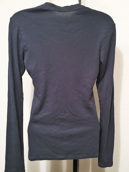 James Perse MEDIUM Navy Long Sleeve Tee