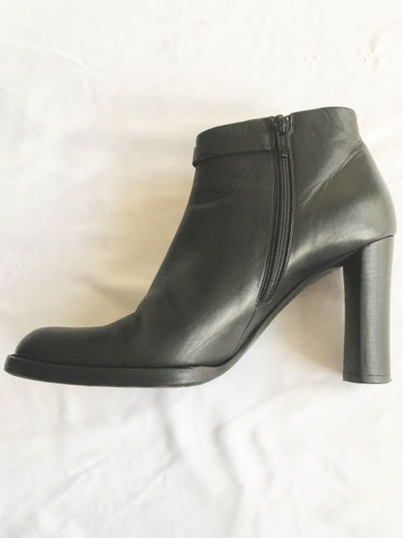 Jil Sander Size 5.5 - 6 Black Leather Ankle Boots