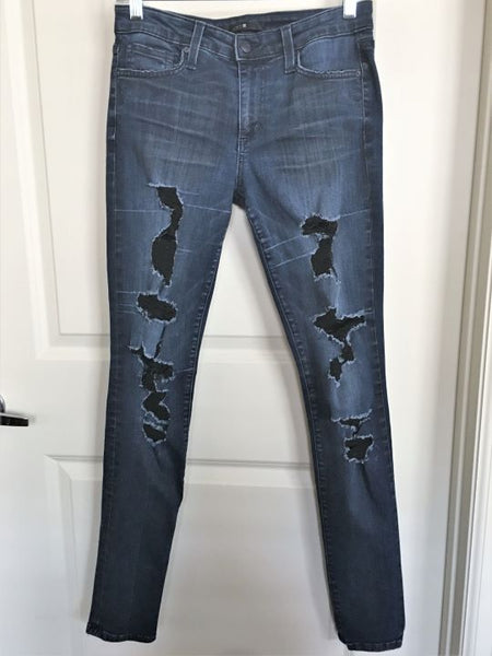 Joe's Size 6 Ellery Distressed Skinny Jeans