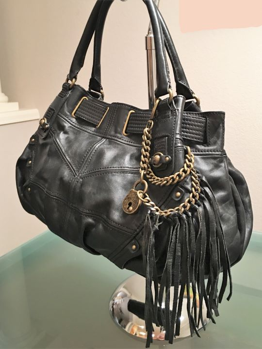 Juicy Couture Black Leather Shoulder Bag
