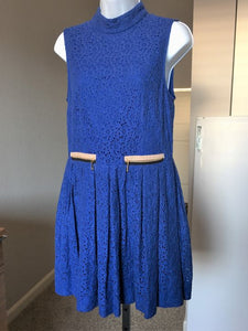 Juicy Couture Size Medium Blue Lace Dress