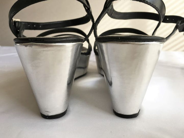Kate Spade Size 8 Silver Wedge Heel Sandals