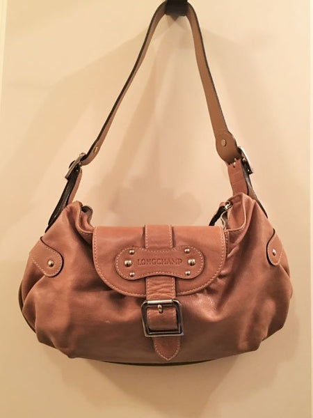 Longchamp Tan Leather Small Shoulder Bag