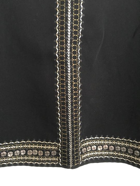 Madewell Size 6 Black Mini Skirt with Gold Sequins