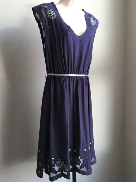 Maeve Anthropologie Size Medium Indigo Dress