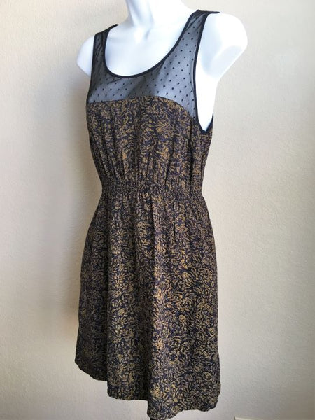 Maeve Anthropologie Size S Navy Lace Front Dress