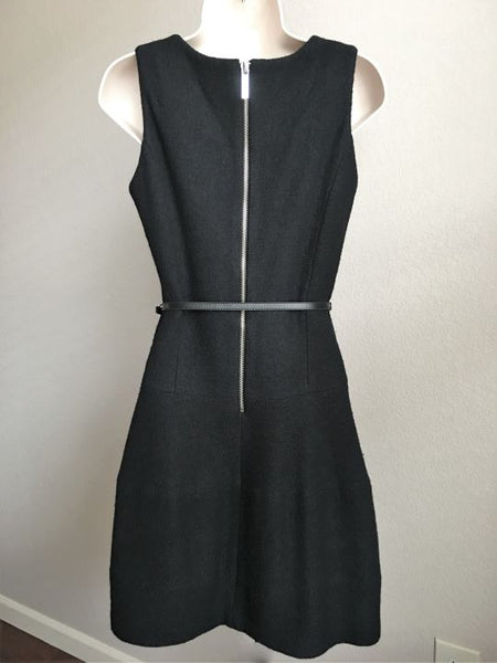 Michael Kors Size 0 Black Wool Blend Dress