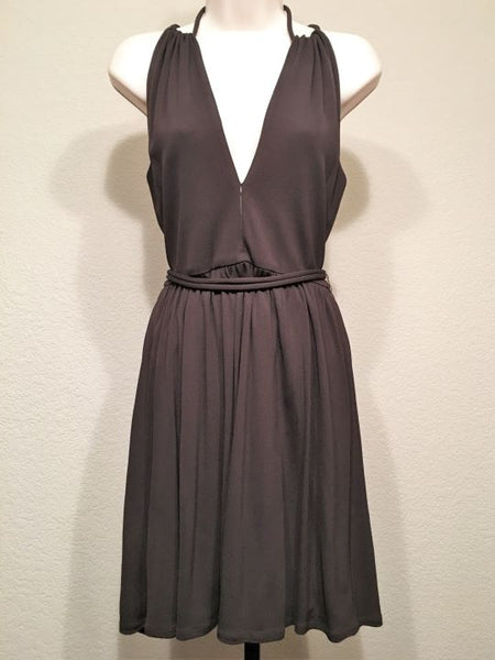 Milly Size XS Petite Brown Fit and Flare Dress