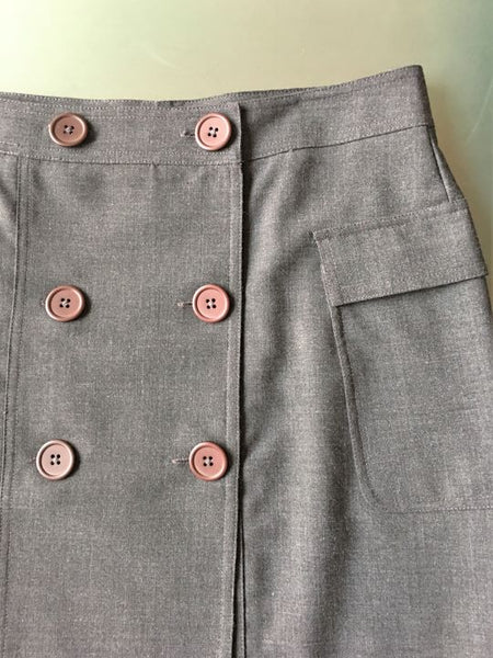 Moda International Size 6 Gray Mini Skirt