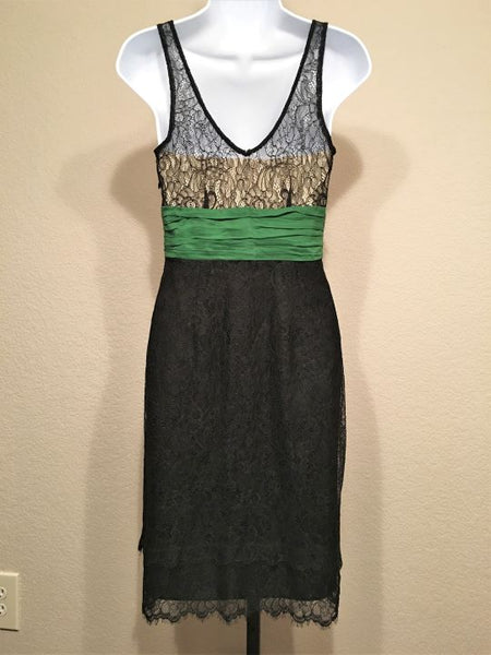 Moulinette Soeurs Anthropologie Size 2 Black Lace Dress