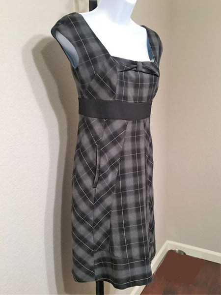 Moulinette Soeurs Anthropologie Size 2 Gray Plaid Dress