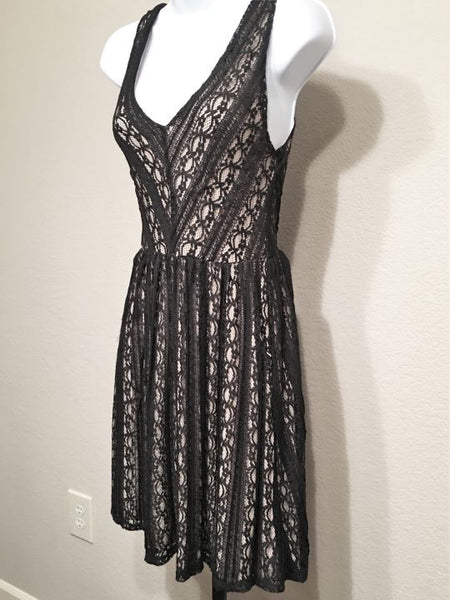Moulinette Soeurs Anthropologie Size XS Black Lace Dress