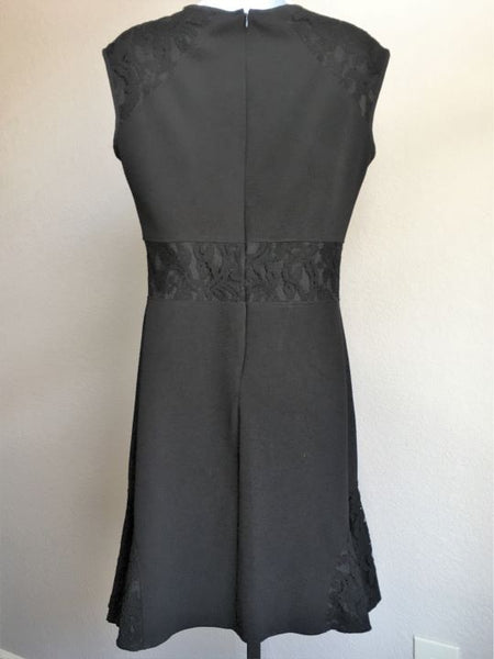 Nanette Lepore Size 4 Black Lace Trim Dress