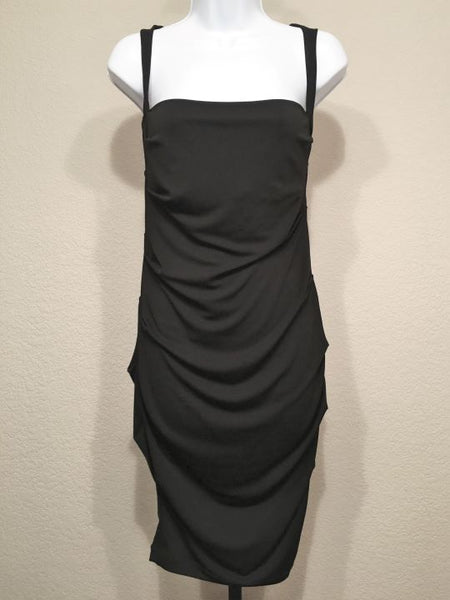 Nicole Miller Size Medium Black Sleeveless Dress