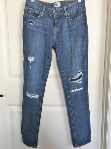 Paige Size 2 Jimmy Jimmy Skinny Distressed Jeans