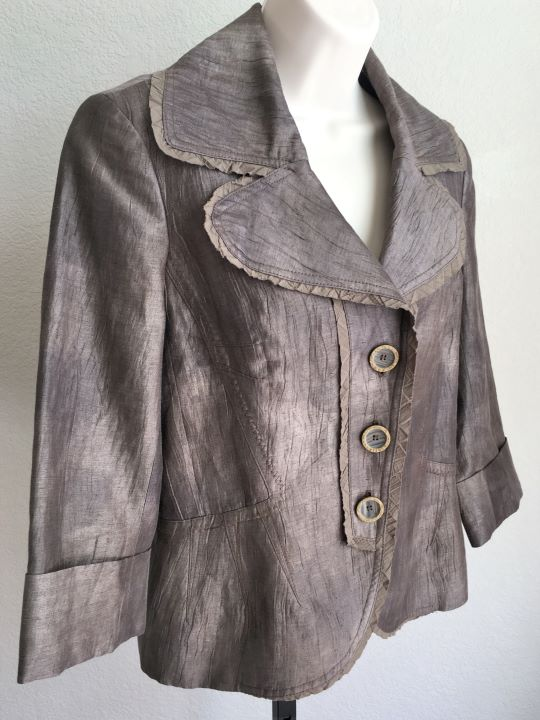 People Like Frank Anthroplogie Size Small Taupe Blazer