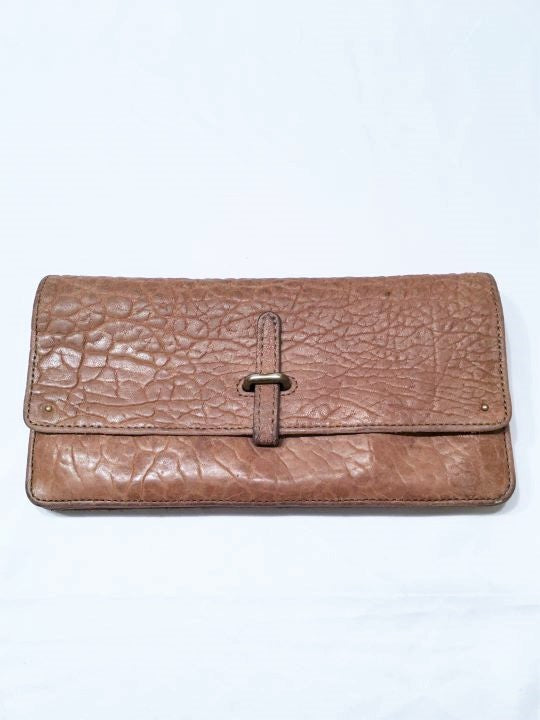 Pilcro Anthropologie Tan Pebbled Leather Wallet
