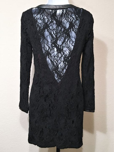 Rag & Bone Size 2 Sheila Black Lace Open Back Dress