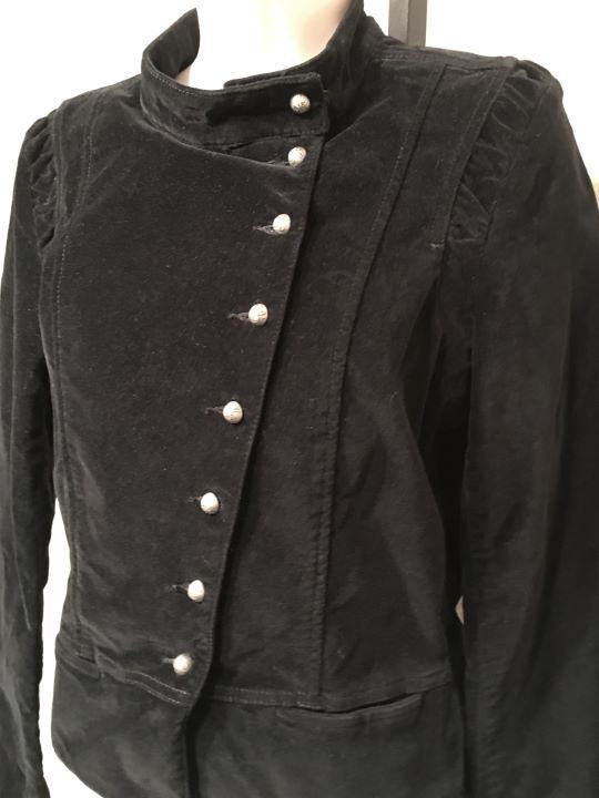 Rich and Skinny Size Medium Black Velveteen Blazer