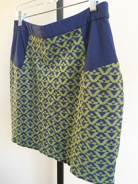 Romeo and Juliet Size Large Blue and Green Mini Skirt