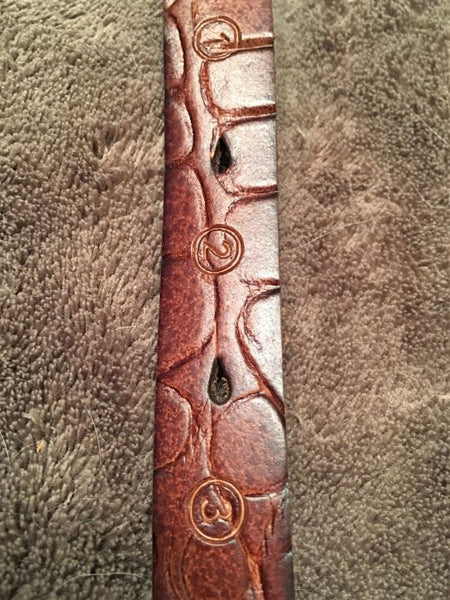 Belt - Scotch and Soda LARGE Rust Alligator Print Belt