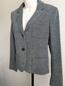 Theory Size 12 Nillian Gray Two-Button Blazer