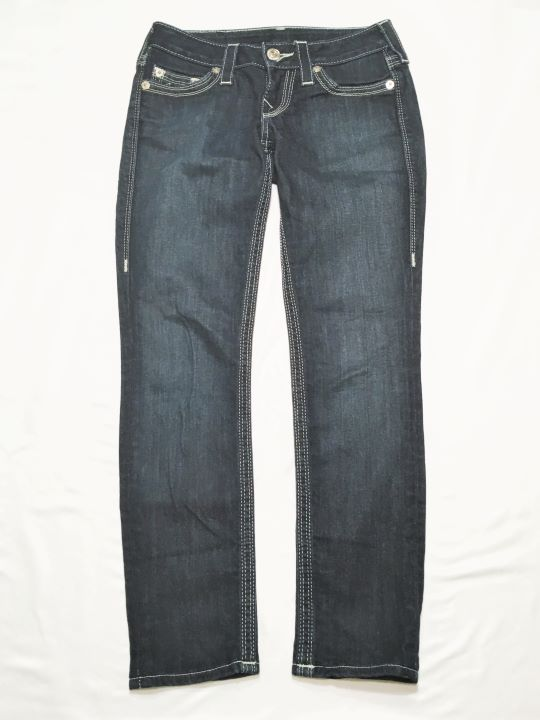 True Religion Size 2  Dark Blue Skinny Jeans